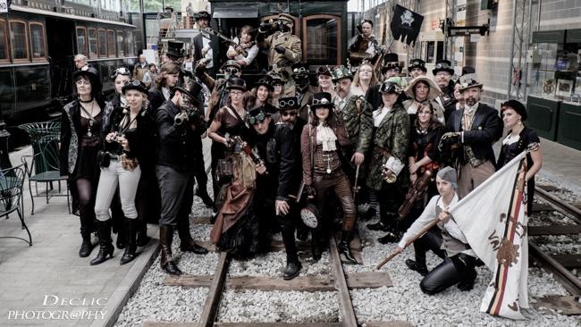 steampunk  event  tram