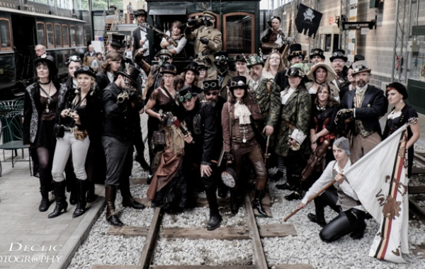 steampunk  event  tram
