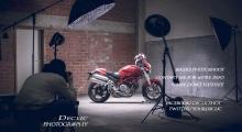 photographe moto eclairage studio motard